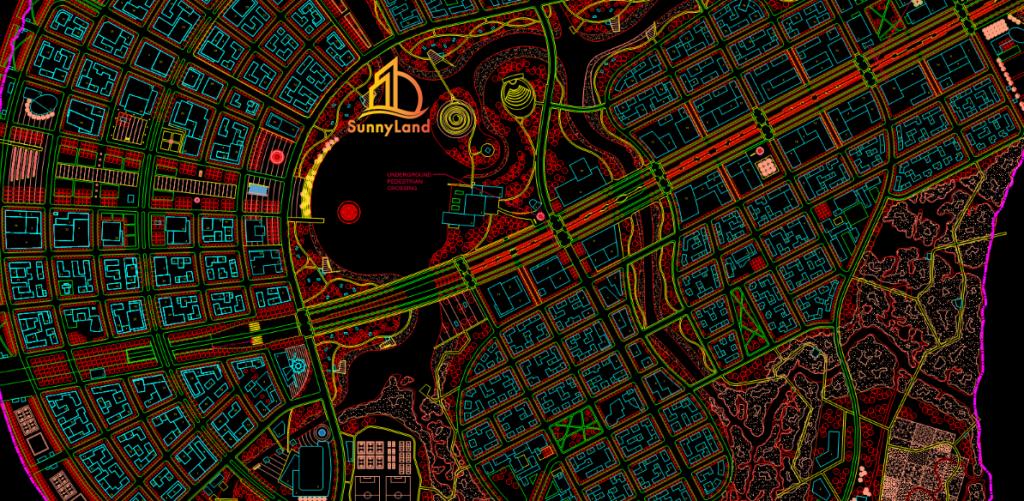 Bản đồ quy hoạch Thủ Thiêm - Quận 2, TP.HCM