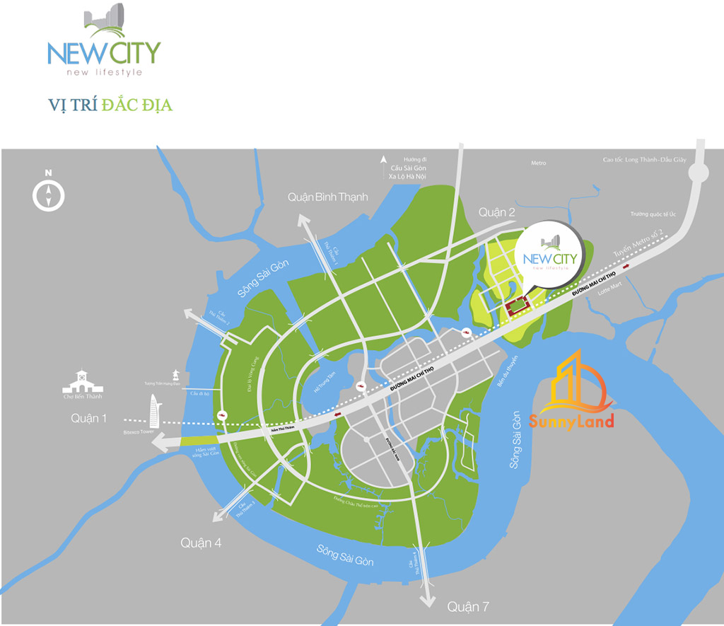 Vị trí dự án New City Thuận Việt - Quận 2