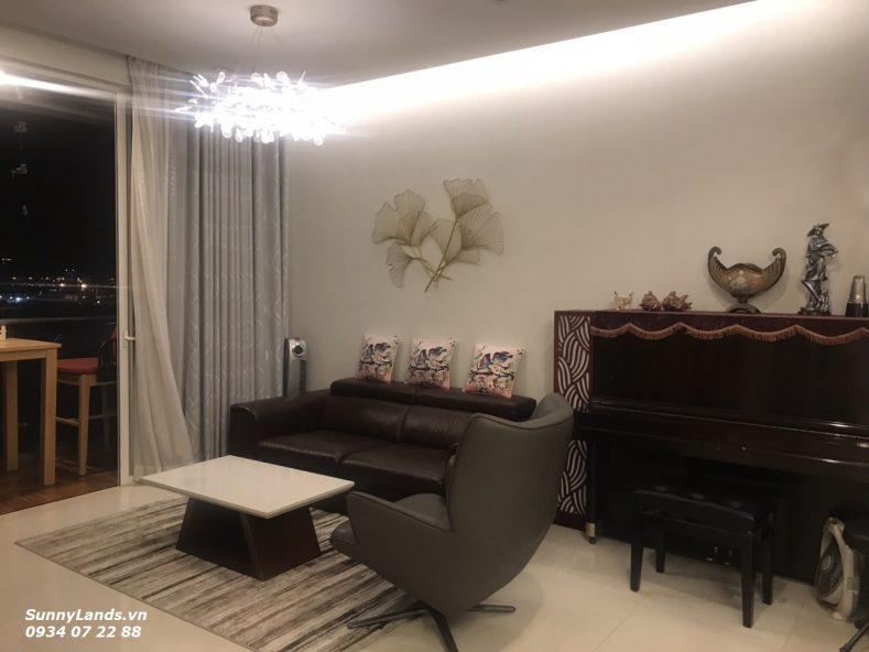 Phòng khách căn hộ Sarimi Sala quận 2 cho thuê