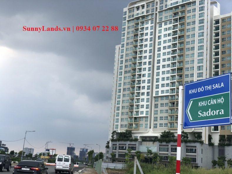 đường vào vị trí căn hộ sadora sala quận 2