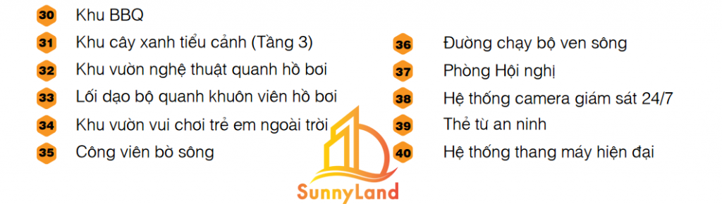 50 tiện ích từ căn hộ Jamila Khang Điền - Song Hành Quận 9