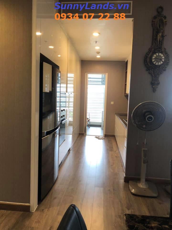 Không gian bếp - giặt căn hộ Sarimi 3PN
