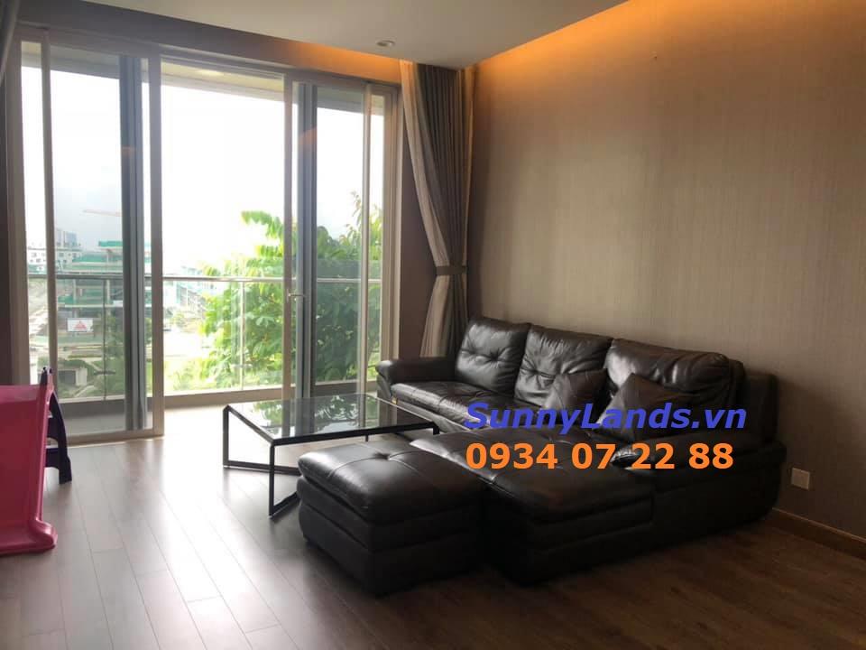 Không gian phòng khách, sinh hoạt chung căn hộ Sarimi 3PN