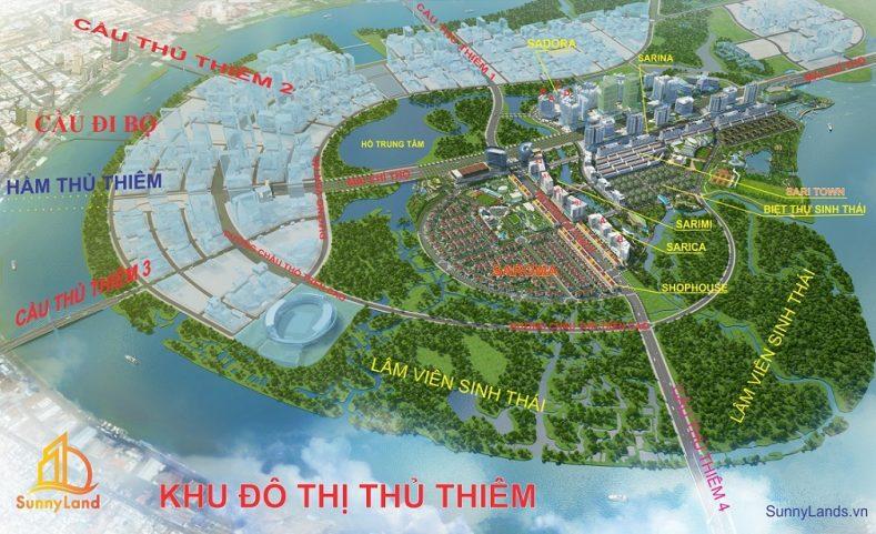 Toàn cảnh sản phẩm Sala Đại Quang Minh - khu đô thị Thủ Thiêm Quận 2