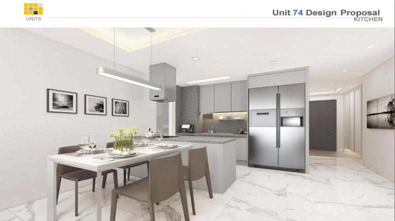 Thiết kế nội thất căn hộ Raemian city bếp sạch sẽ, rộng rãi
