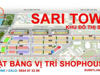 Hình ảnh vị trí mặt bằng shophouse sari town khu đô thị sala quận 2.