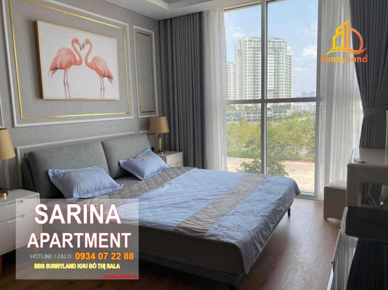 Phòng ngủ Căn hộ Sarina Apartment