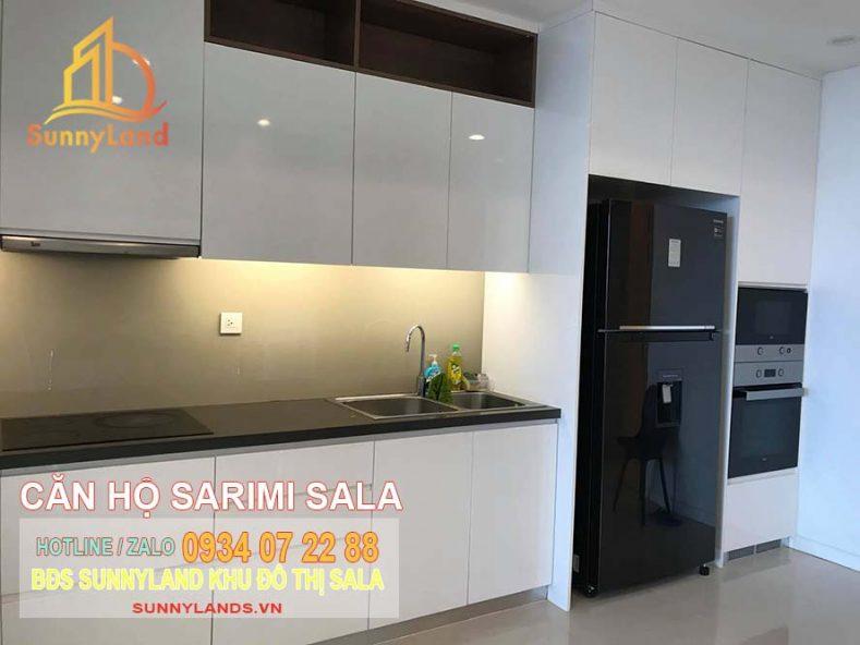 Nhà bếp căn hộ Sarimi Sala Apartment