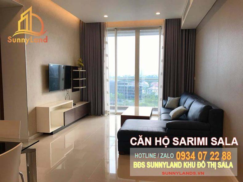 Phòng khách căn hộ Sarimi Apartment khu đô thị Sala
