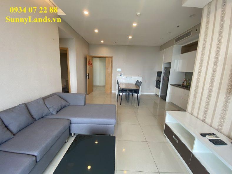 Phòng khách căn hộ Sarimi Sala Đại Quang Minh cho thuê 20 triệu/tháng